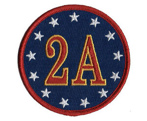 TP24 2A  2nd AMENDMENT US CONSTITUTION EMBROIDERED PATCH - IRON ON