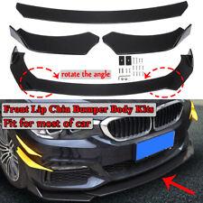 Universal Auto Car Lower Front Bumper Lip Body Kit Spoiler Splitter Black 3PC UK