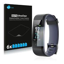 6x Displayschutzfolie für Willful Fitness Tracker SW350 Klar Schutzfolie
