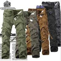 Fashion Casual Mens Military Army Cargo Camo Combat Work Trousers Pants New Sz