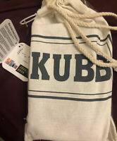 Mini Kubb Game Glow in the Dark Block Sticks Drawstring Carry Bag Colorful New