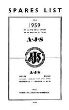 (0067) 1959 AJS Parts list