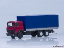 Scale model truck 1/43 MAZ-6303 with onboard awning (AIST)