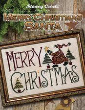 STONEY CREEK Cross Stitch Pattern Leaflet MERRY CHRISTMAS SANTA #515