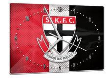 Licensed AFL ST KILDA SAINTS KFC Aussie Rules Glass Clock Pool Cue Room Man Cave