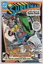 Superman The Computer That Saved Metropolis VF+ Radio Shack Promo Giveaway (b
