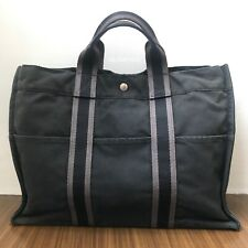 Authentic HERMES™Large Canvas Handbag