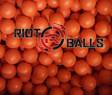100 Premium .68 cal Reusable Red Rubber Training Balls NEW paintballs reballs