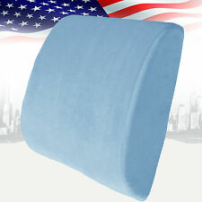 Memory Foam Lumbar Cushion Travel Pillow Car Seat Home Office Chair Back Support