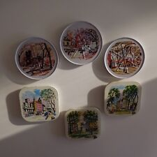 Lot de 6 sous-bocks sous-verres art-déco vintage collection