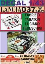 DECAL 1/43 LANCIA 037 RALLY F.TABATON R.SANREMO 1983 (07)