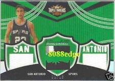 2006-07 TOPPS TRIPLE THREADS PATCH: MANU GINOBILI #2/18 SAN ANTONIO SPURS