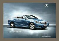 Mercedes-Benz E-Class Cabriolet Brochure 2010 - SE & Sport