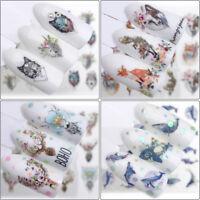 2Pc Nail`Sticker Art Decoration Slider Fox Adhesive Design Water Decal Man JE