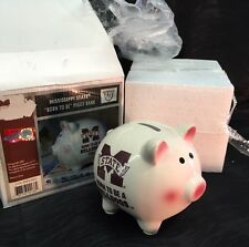 New Ncaa Mississippi State Bulldogs Piggy Savings Bank Born To Be Football