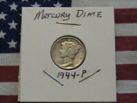 1944-P Mercury Dime. Good Condition! Circulated, with some wear!  Look close!!