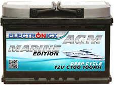 Electronicx Marine Édition Batterie AGM 100 Ah 12V Bateau Versorgungsbatter