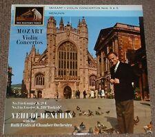 HMV ASD 473 P. sello Mozart violín conciertos nos 3 & 5 becados LP estéreo Reino Unido