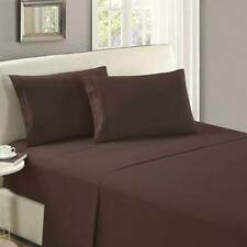 New Hotel Style Quality Queen Sheets Set 1100 Tc Cotton Deep Pocket Dark Brown