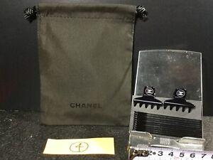 Chanel Mini Hair Clip Hairpin Drawstring Pouch 4
