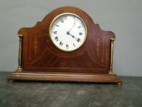 Vintage Wooden Mantle Clock Spares or Repair