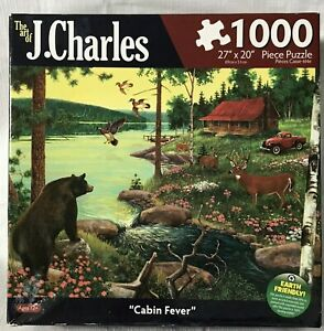 Cabin Fever The Art Of J Charles 1000 Piece Jigsaw Puzzle #8552-3 SEALED