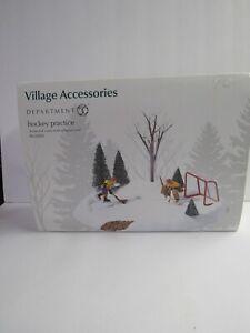 Dept 56 Village Accessories Hockey Practice 52512 Animated Torn Box