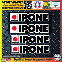 4 Stickers Autocollant IPONE sponsor huile moteur decal rallye tuning