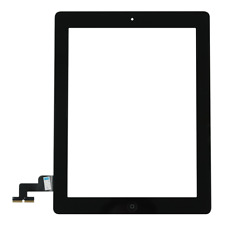 New Apple iPad 2 Black Touch Screen Digitizer + Home Button + Adhesive