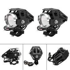 1 Pair Motorcycle LED Headlight Laser Cannon Waterproof Power Spot Light