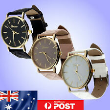 Faux Leather Band Women's Luxury Wristwatches