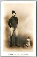 MIDGET LILLIPUTIAN ANITA HER BROTHER 1912 RARE ANTIQUE REAL PHOTO POSTCARD RPPC