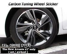 "Carbon Tuning Wheel Mask Sticker For Hyundai The new Avante/Elantra 17""(2013~14)"