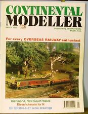 Railway magazine ~  CONTINENTAL MODELLER ~ March 1995 edition