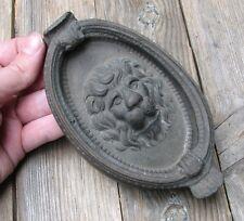 Old Reclaimed Solid Brass Lion Door Knocker
