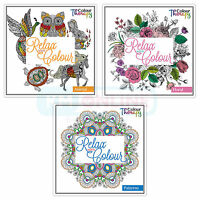Colouring Book 60 Page Printed Anti Stress Therapy Patterns/Floral/Animal Design