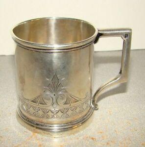 W.K. Vanderslice San Francisco Coin Silver Mug Cup Romualdo Pacheco