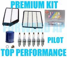 PREMIUM TuneUp Kit Air,Cabin,Oil NGK Platinum Spark Plugs Acura MDX Honda Pilot