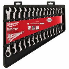 Milwaukee 48-22-9516 15pc Ratcheting Combination Wrench Set Metric New