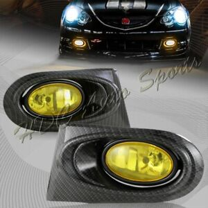 For 2002-2004 Acura RSX DC5 Yellow Lens Bumper Fog Driving Lights Lamps + Switch