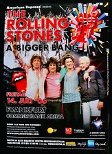 "The Rolling Stones~Original ""A Bigger Bang"" Frankfurt Germany Concert Poster"