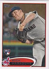 Nick Hagadone Cleveland Indians 2012 Topps Baseball Rookie Card