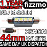 ERROR FREE CANBUS 4 SMD LED 44mm C5W XENON WHITE NUMBER PLATE LIGHT FESTOON BULB