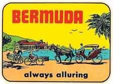 BERMUDA  Caribbean    Vintage Looking Travel Decal Luggage Label sticker