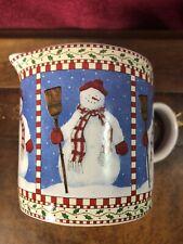 1998 Vintage Debbie Mumm Snowman Sakura Creamer
