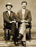 """1880's Two Young Men Holding Hands Old Photo 8.5"""" x 11"""" Reprint"""
