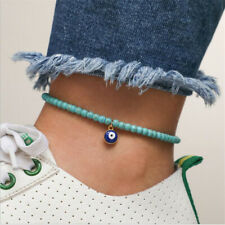 Anklet Foot Chain Summer Jewelry Blue Turquoise Beads Ankle Beach Bracelet