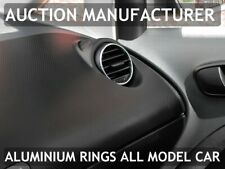 Seat Leon II 05-12 Chrom Ringe für den Lüftungsschacht 2 Stk -Aluminium poliert