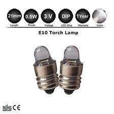 2pcs Lamp LED Bulb 3V Cool White MES E10 Screw for Torch bike bicycle flashlight