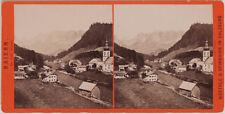 Original 1880er J. Stereofoto RAMSAU, Bayern, von Würthle